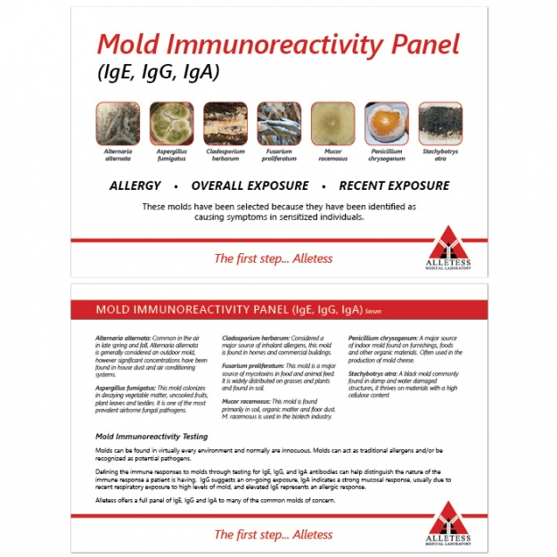 Mold Immunoreactivity Panel Card